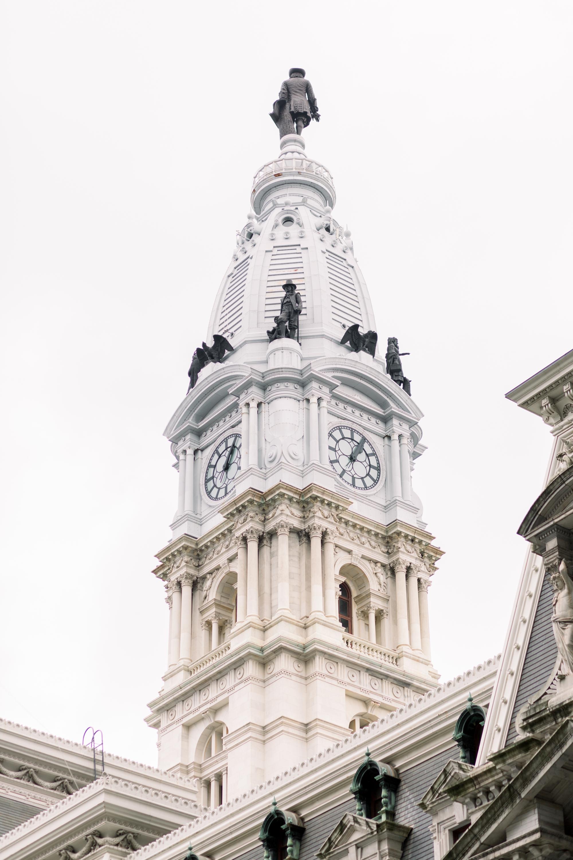 city hall philadelphia clock tower