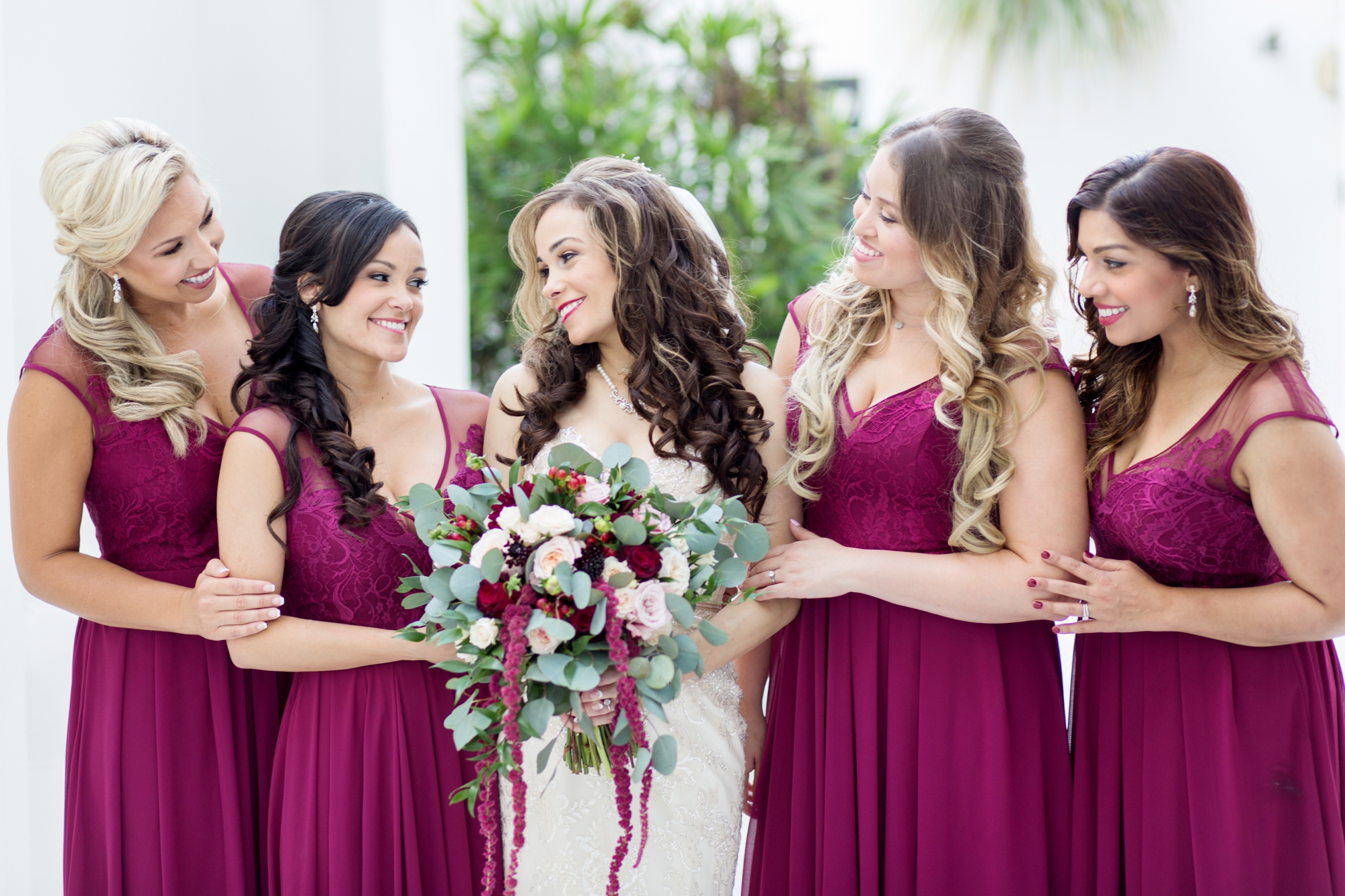 cranberry bridesmaids dresses
