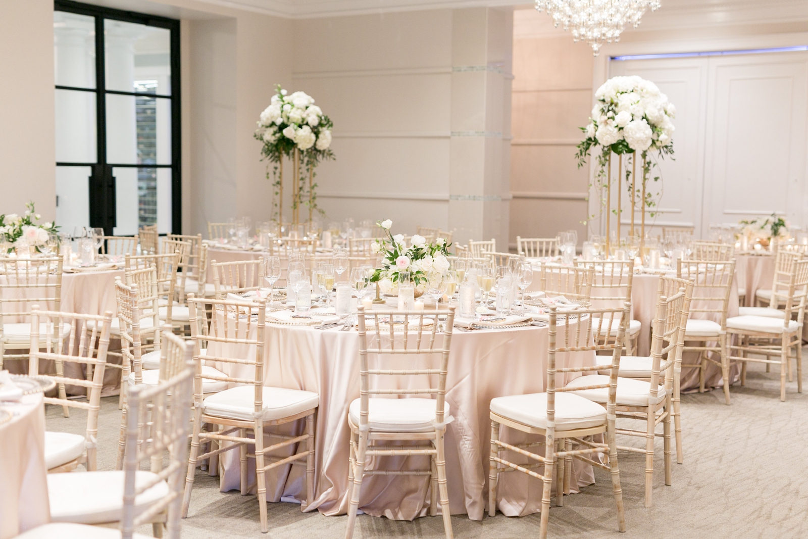 ivory and blush reception