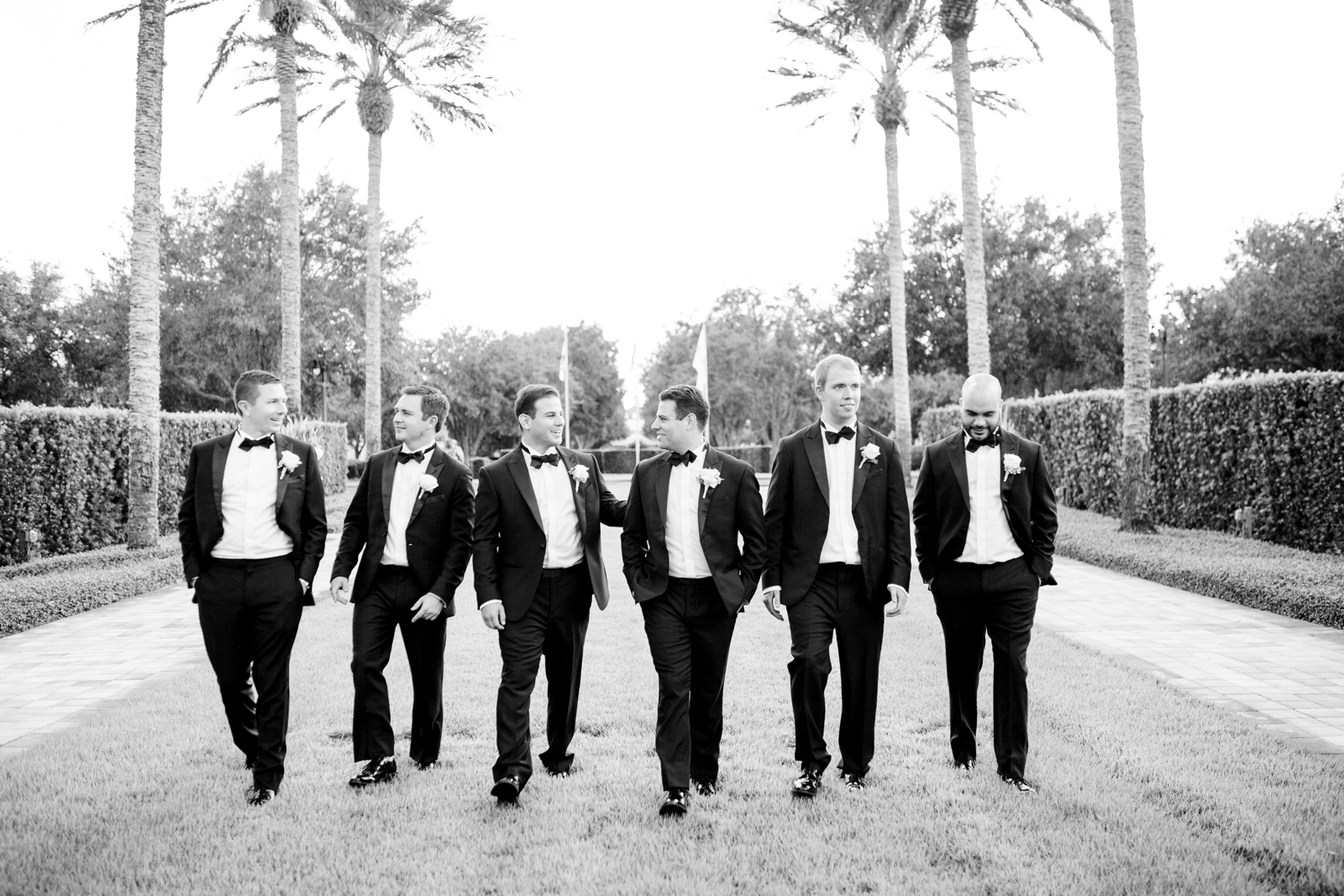 groomsmen at reunion resort