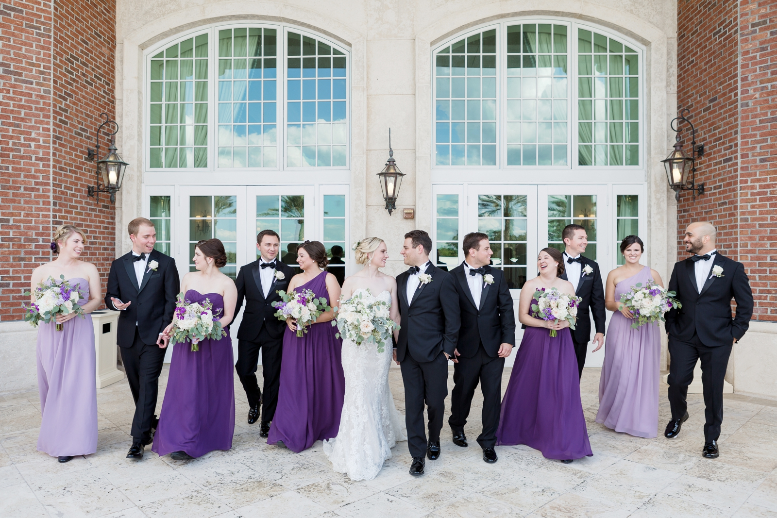 wedding party purple