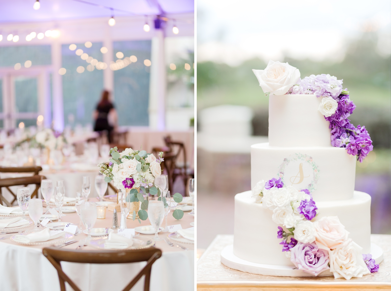 white clean wedding cake