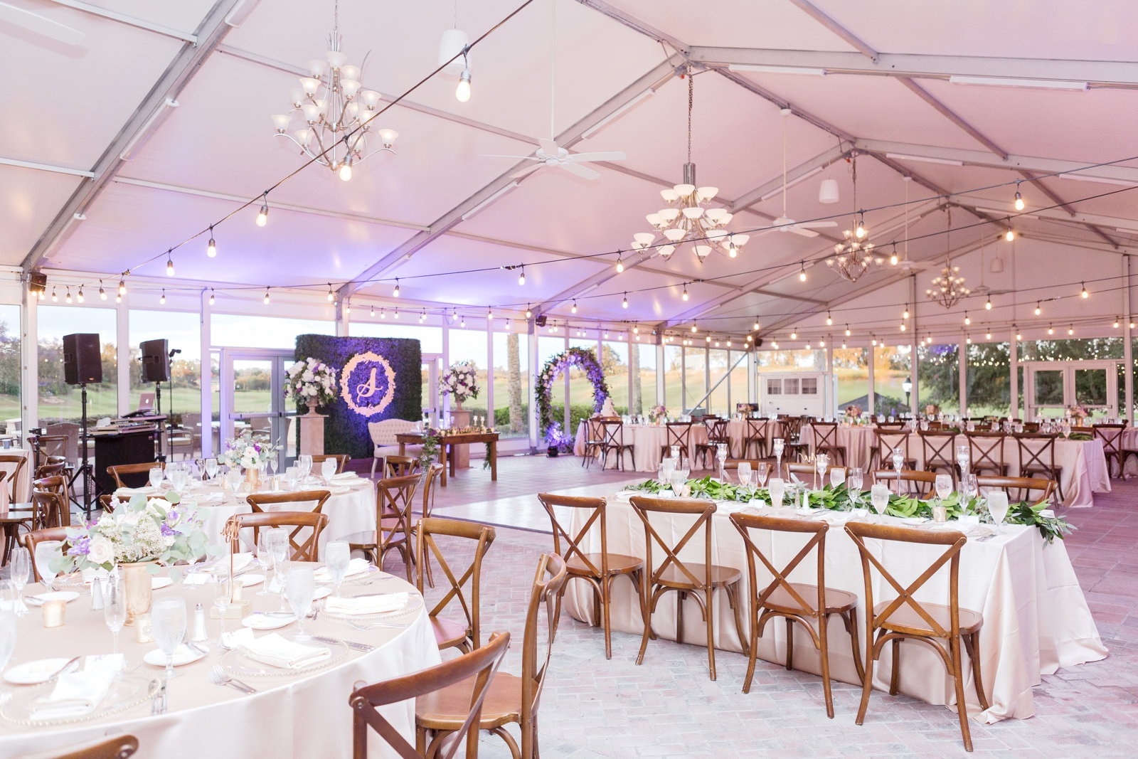 tented reception reunion resort