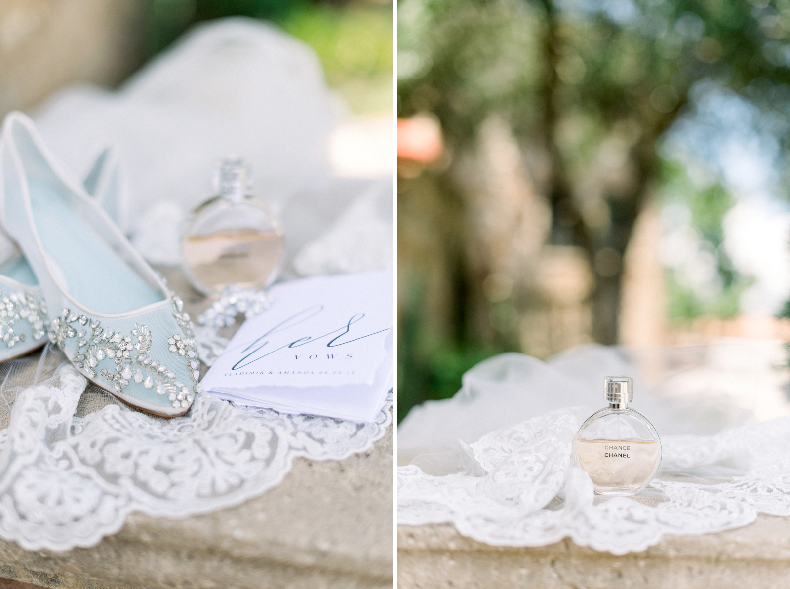 bridal details at bella collina