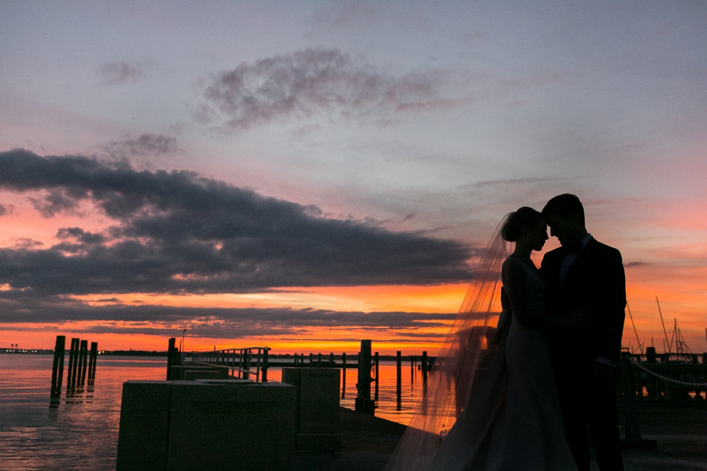 wedding sunset photos