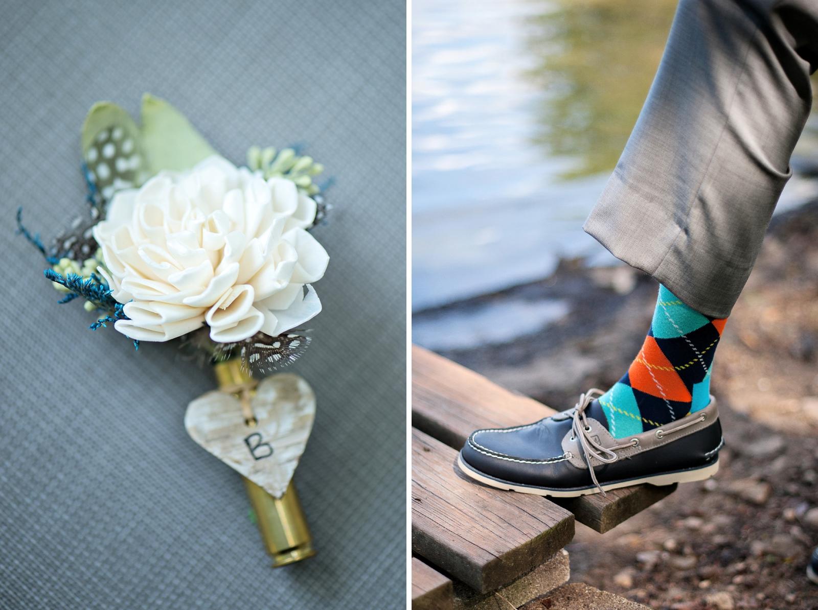 lakeside wedding details for groom