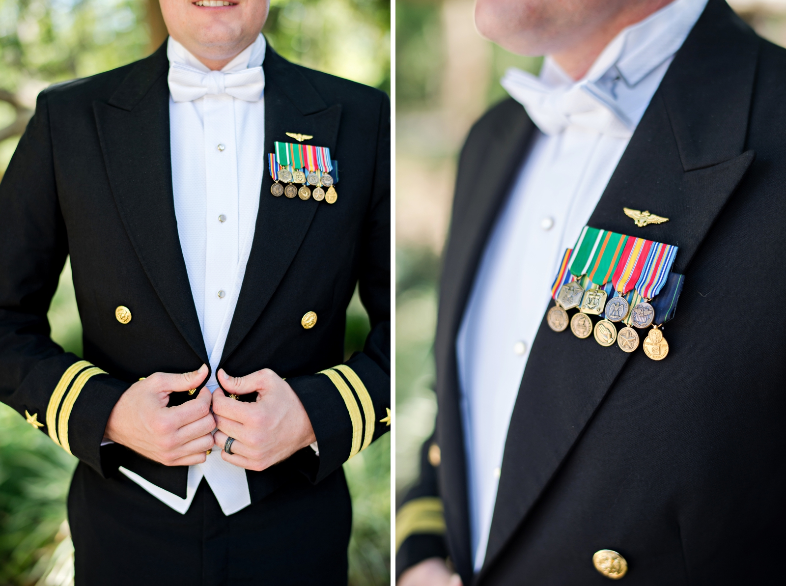 uniform wedding ceremony navy
