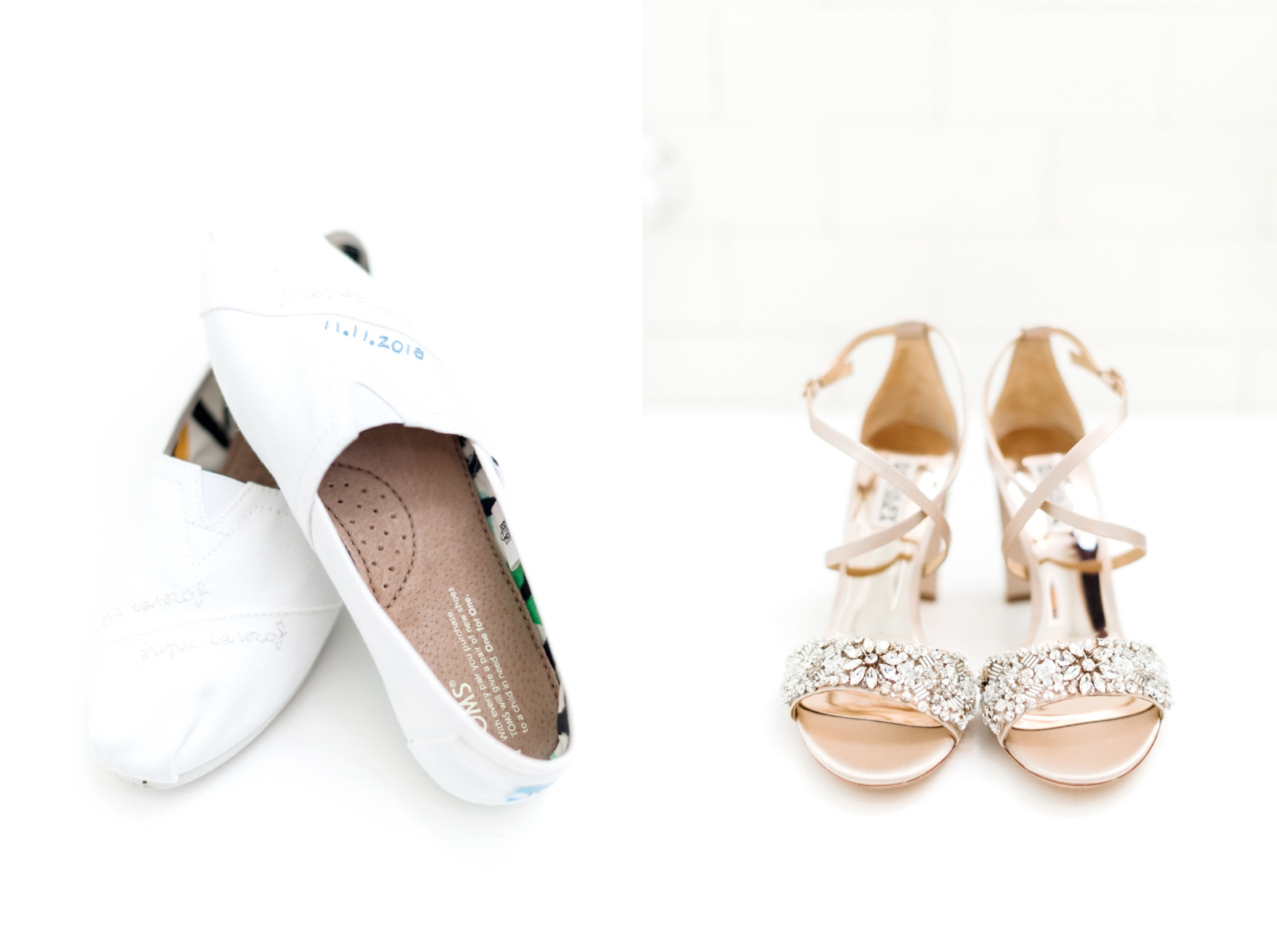 embroidered wedding toms