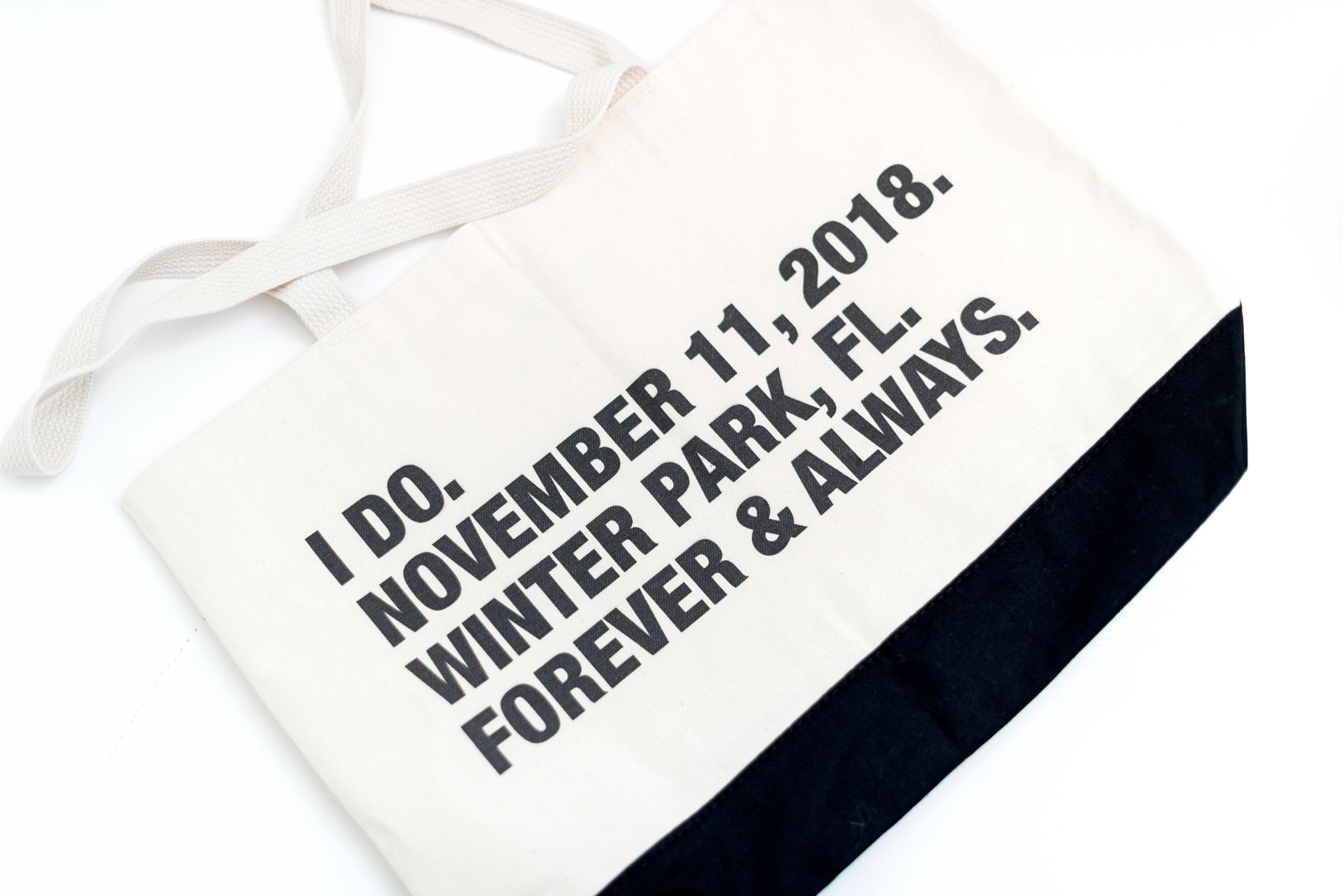 customized wedding tote bags