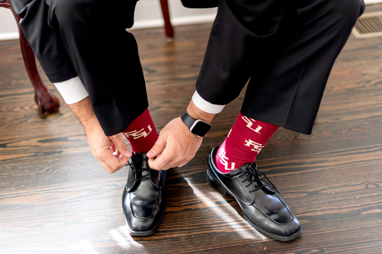 FSU socks groom