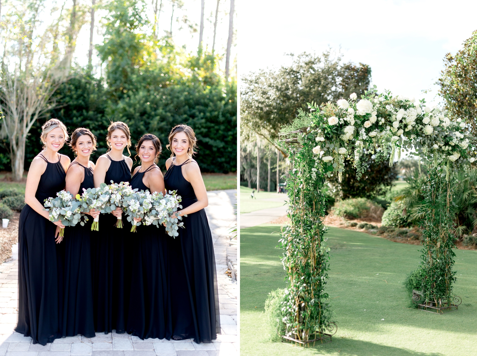 outdoor ceremony arch inbloom florist