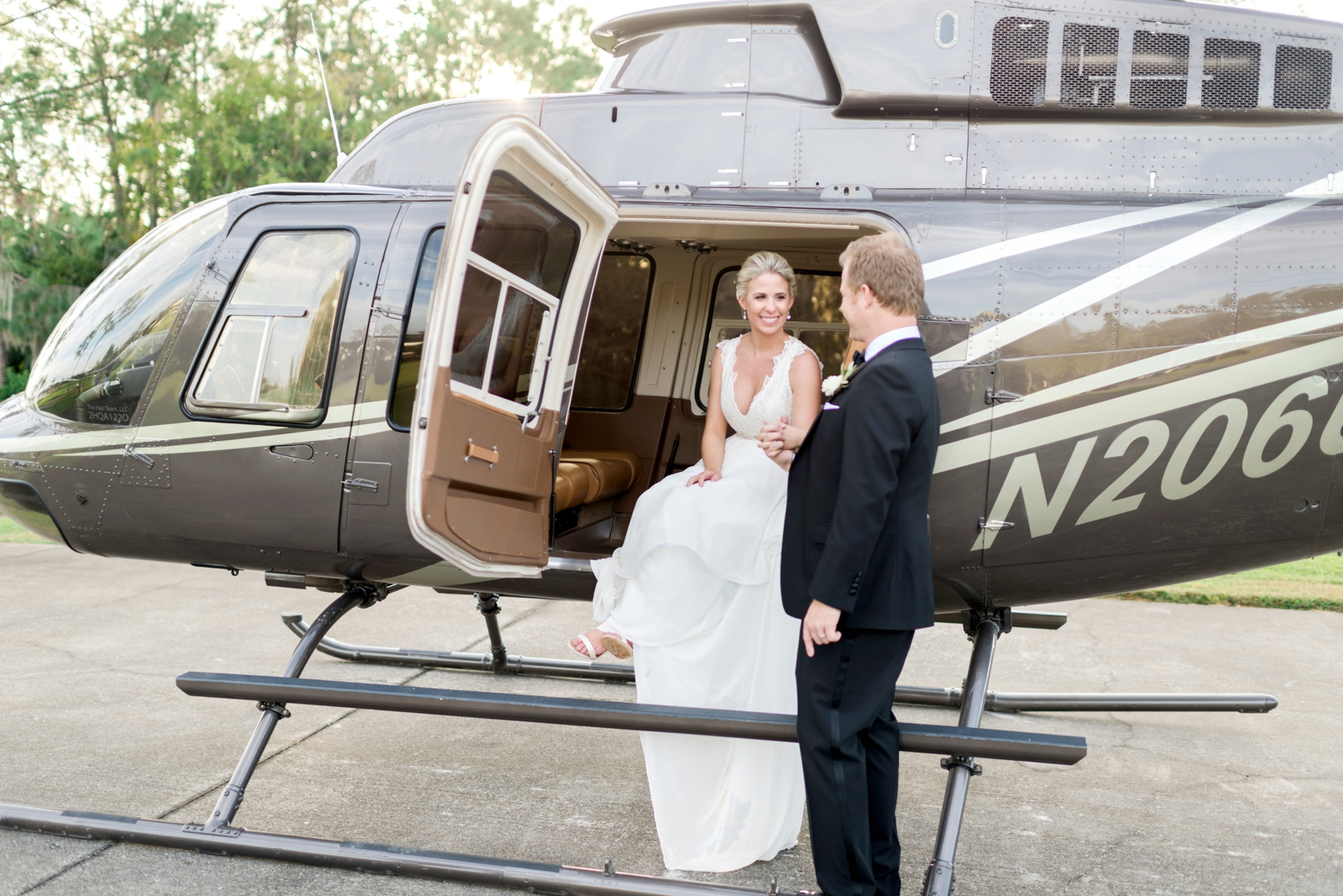 helicopter at wedding orlando