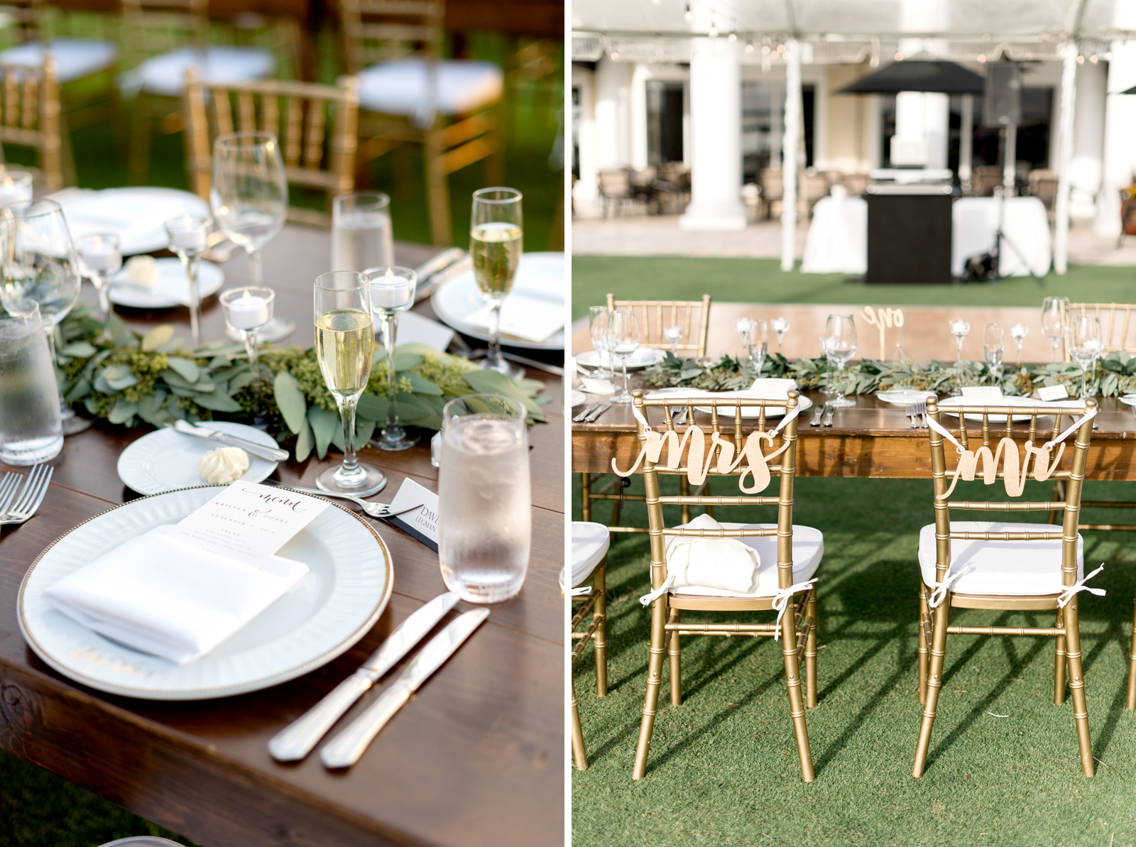 farmwood tables reception