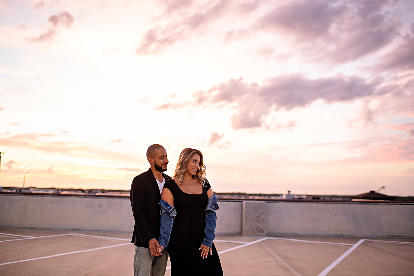 Sunset Rooftop Engagement