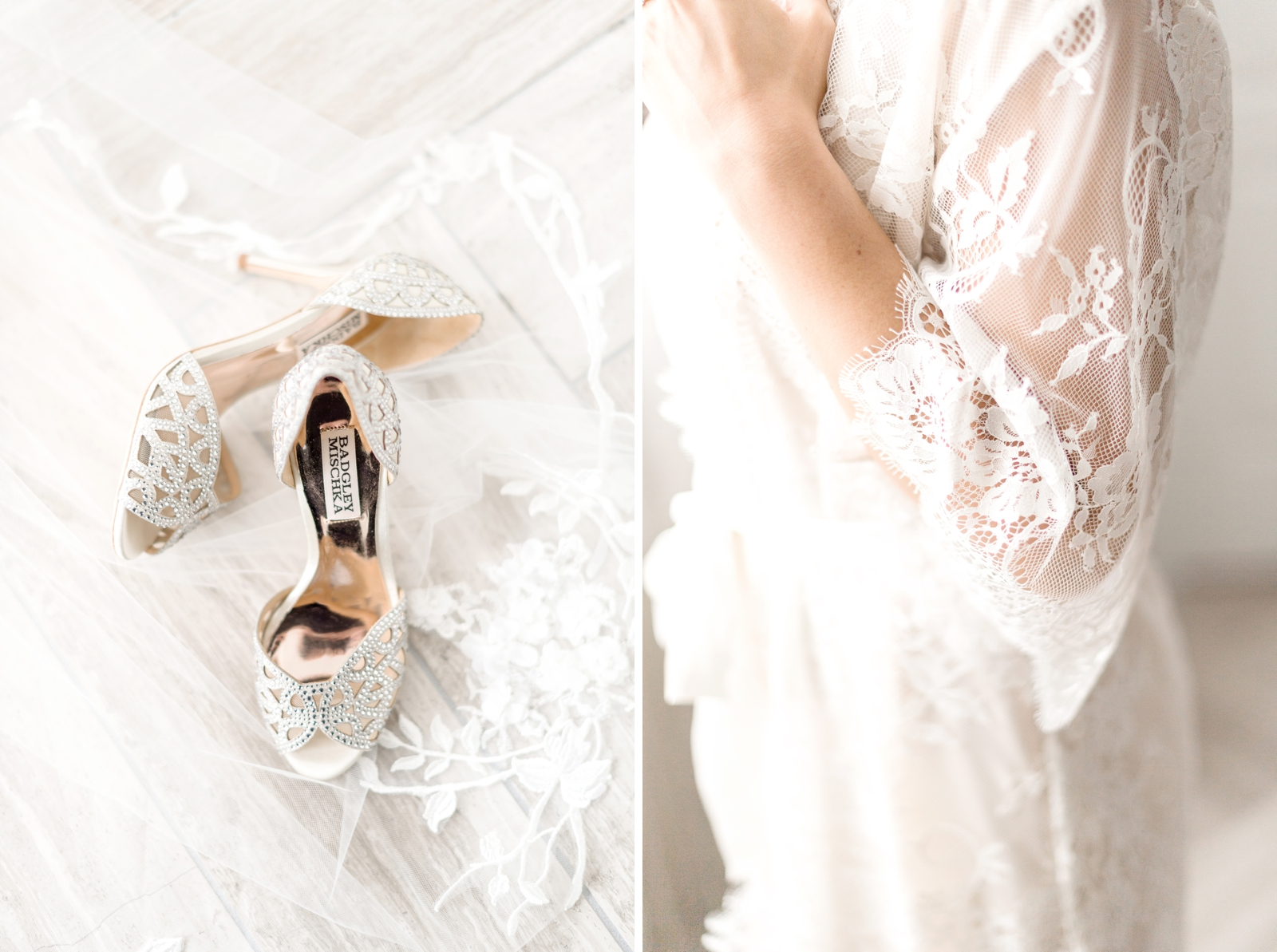 girl and a serious dream lace bridal robe