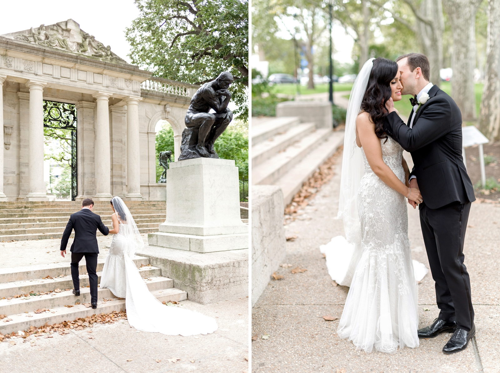 rodin museum wedding photography