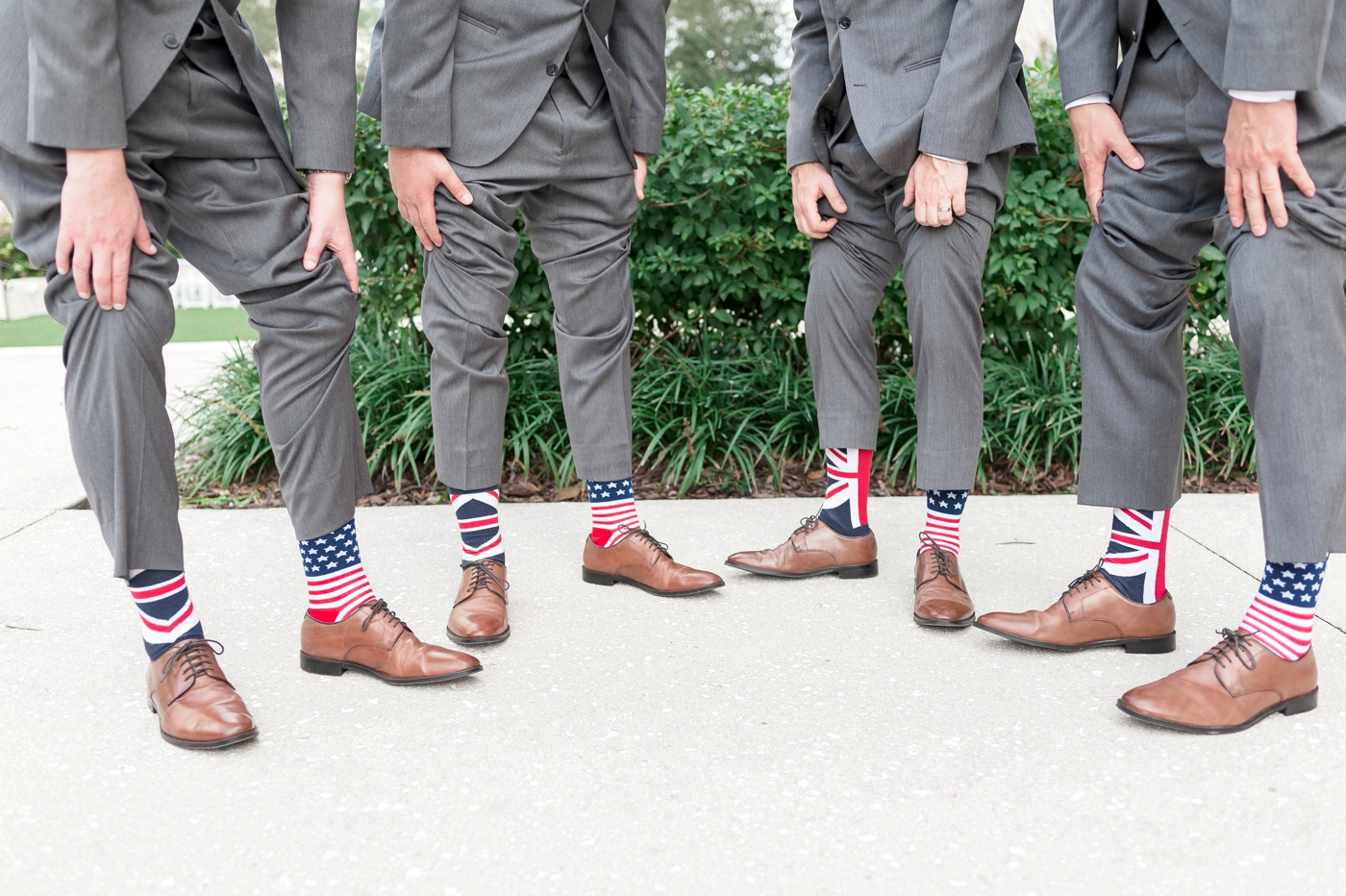 USA and UK groomsmen socks