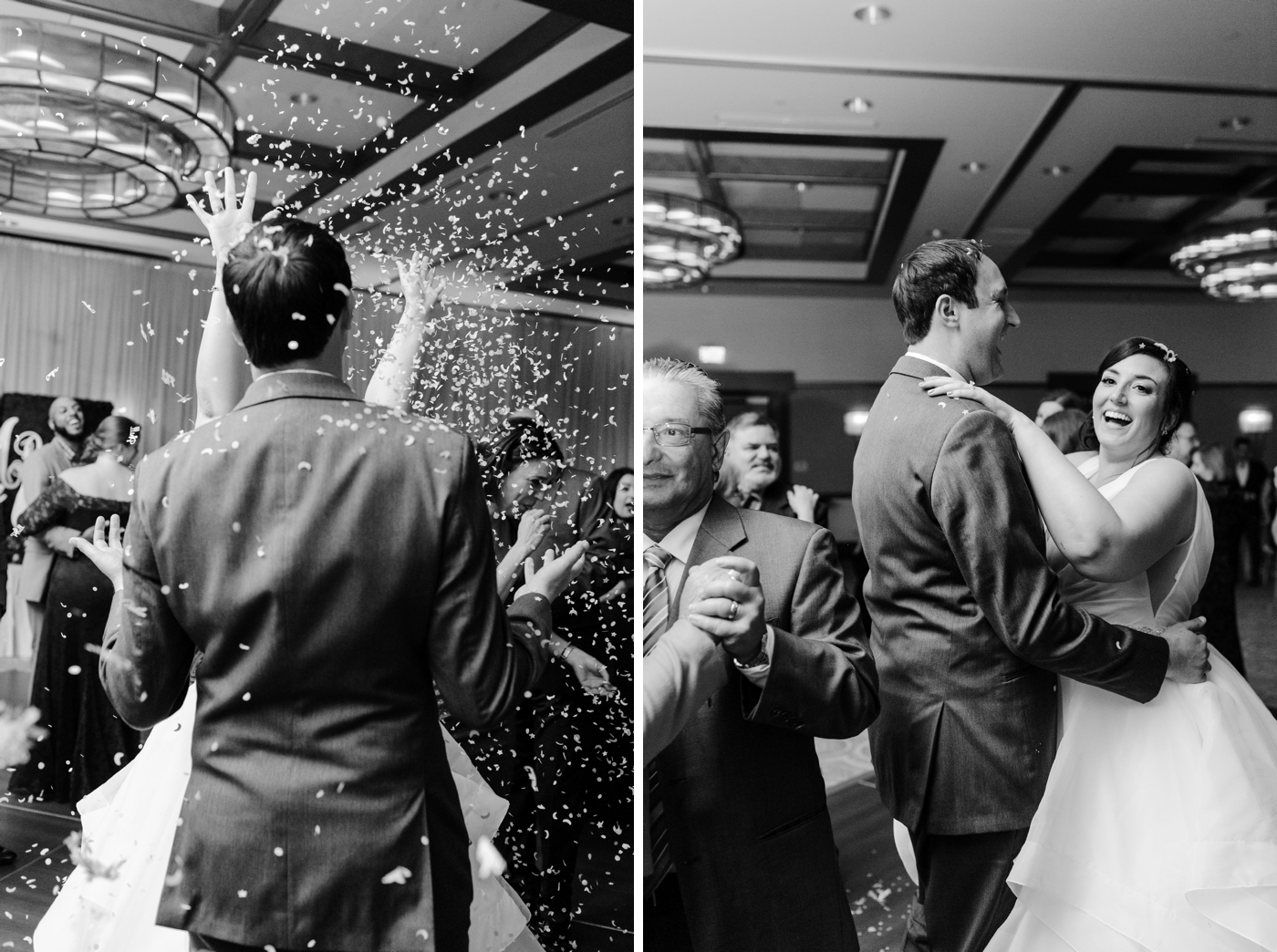 reception confetti toss