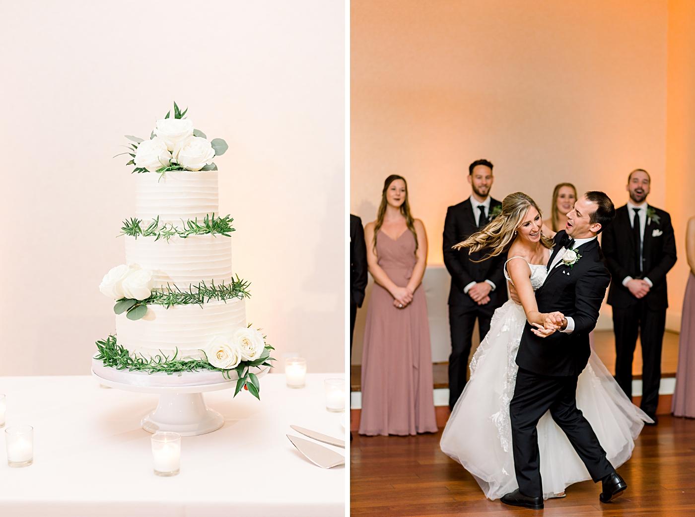 rustic white wedding cake