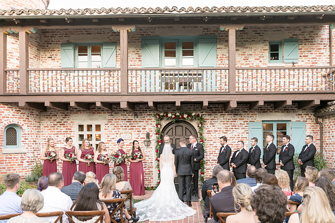 intimate ceremony at casa feliz