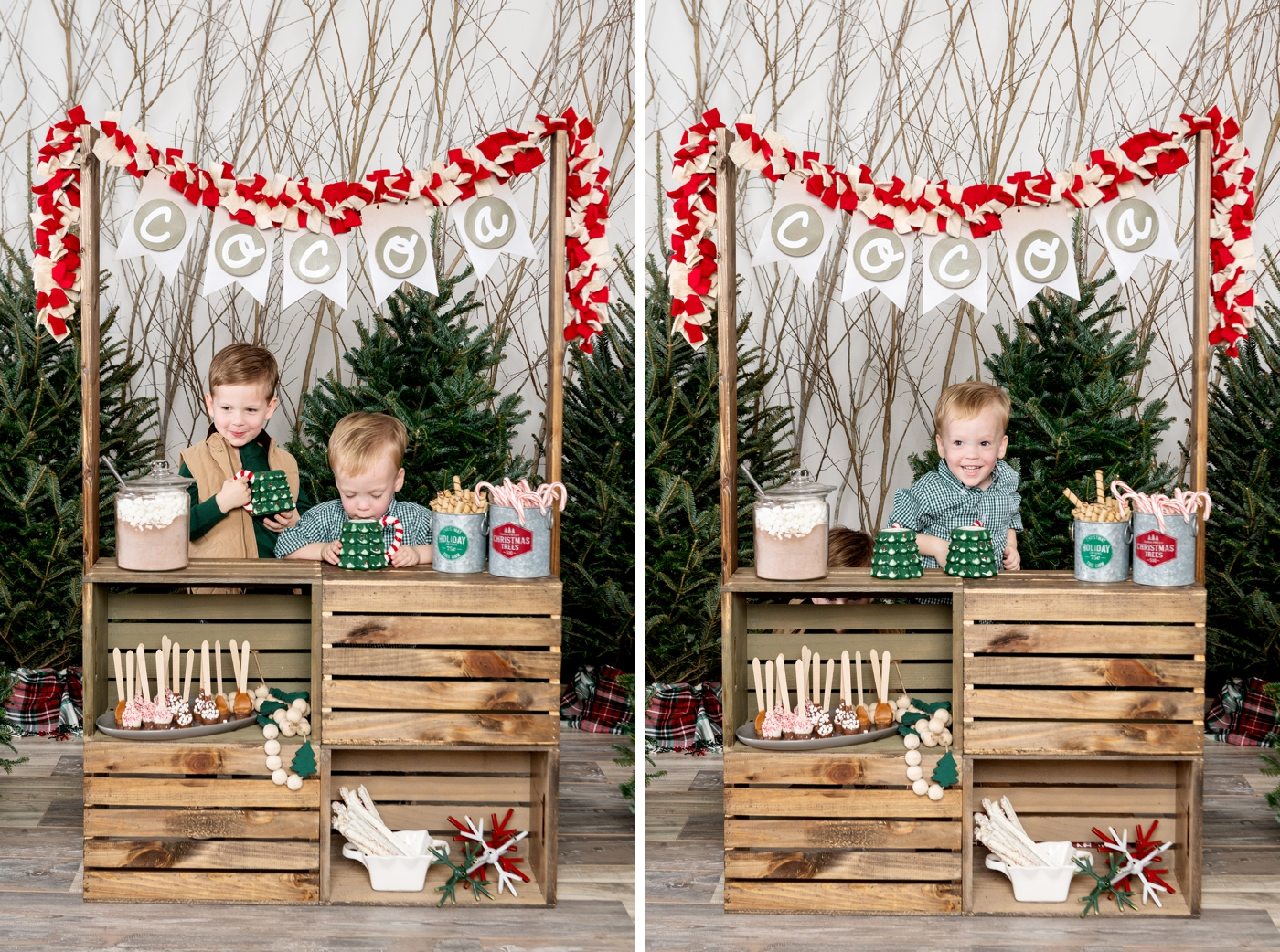 DIY hot cocoa stand for kids