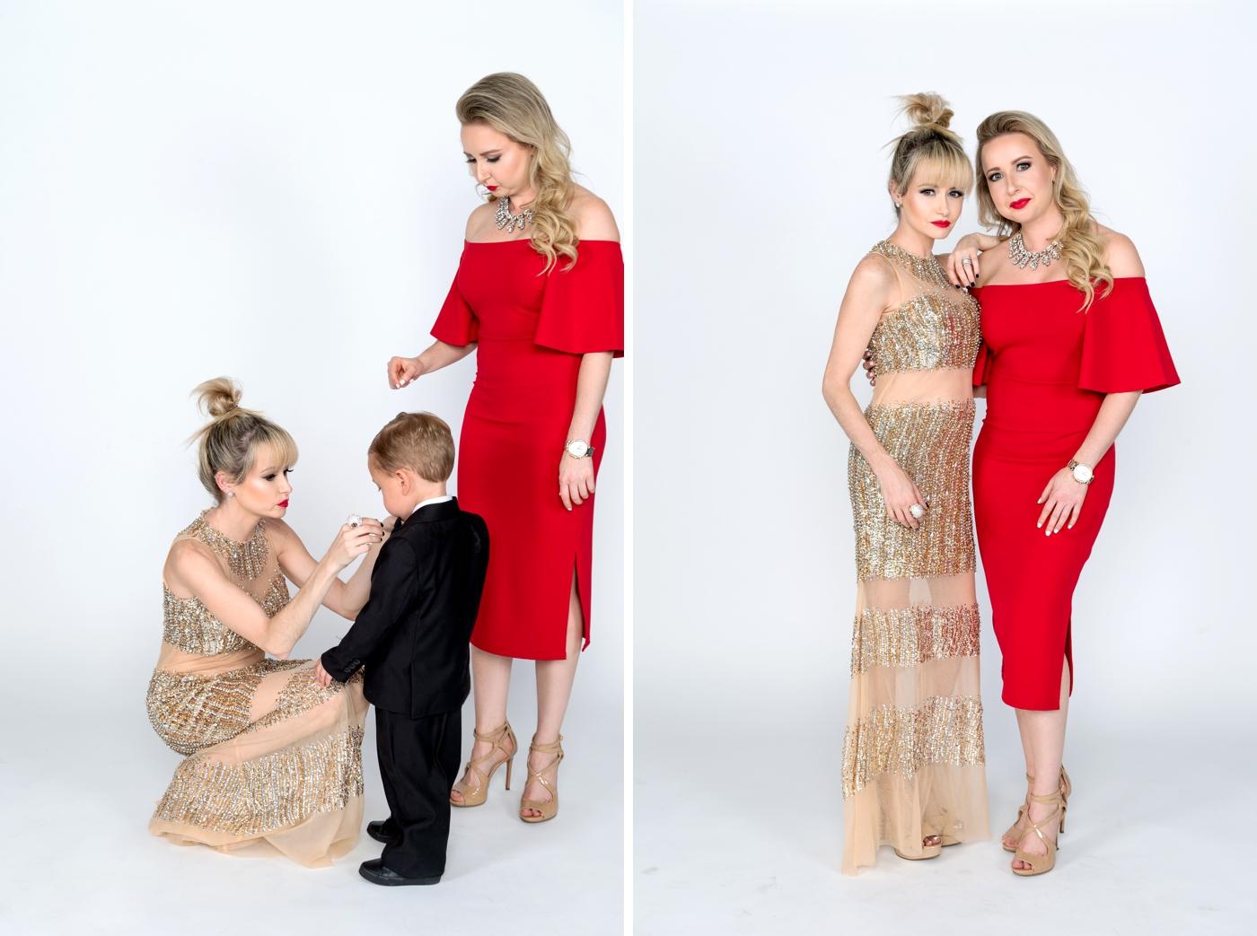Glamorous family portraits