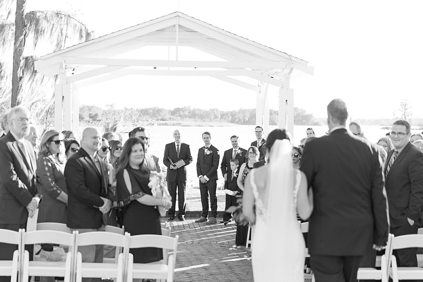 lakefront wedding ceremony florida