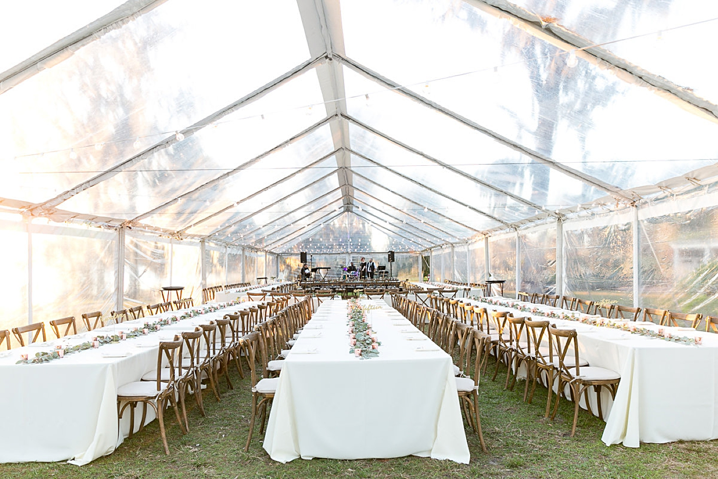 clear tented wedding reception orlando
