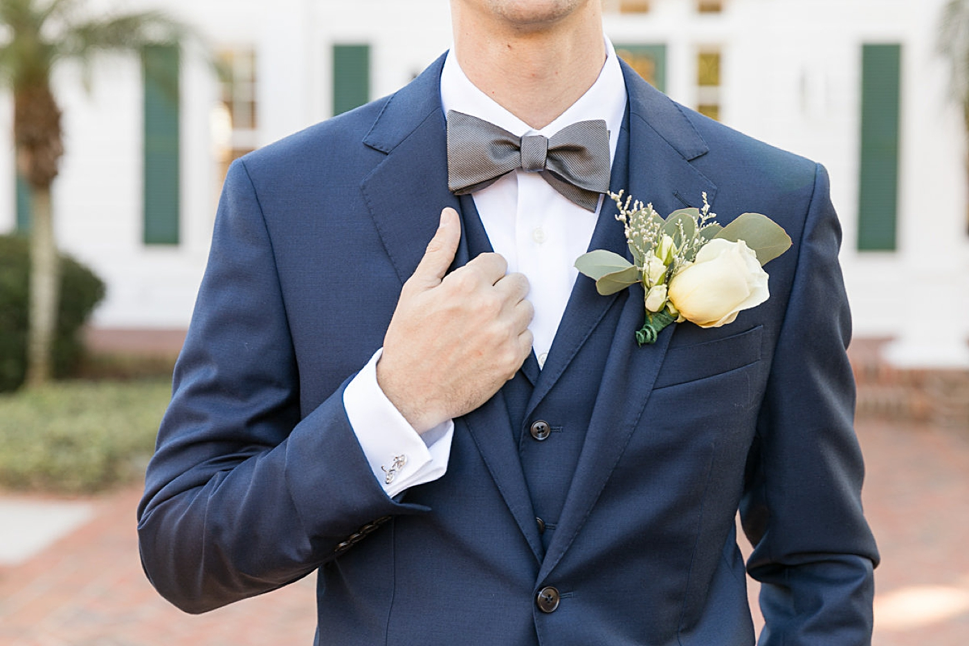 southern groom attire and bowtie