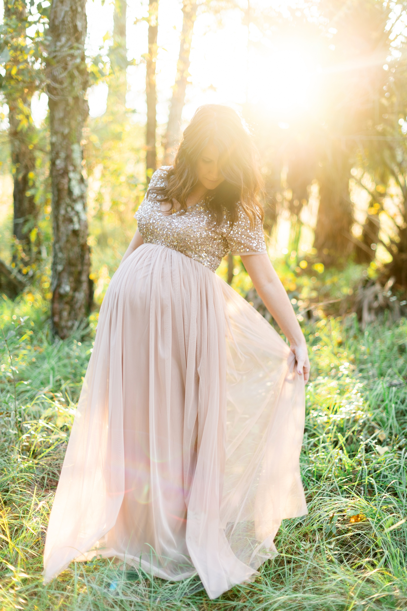 sunset maternity photos