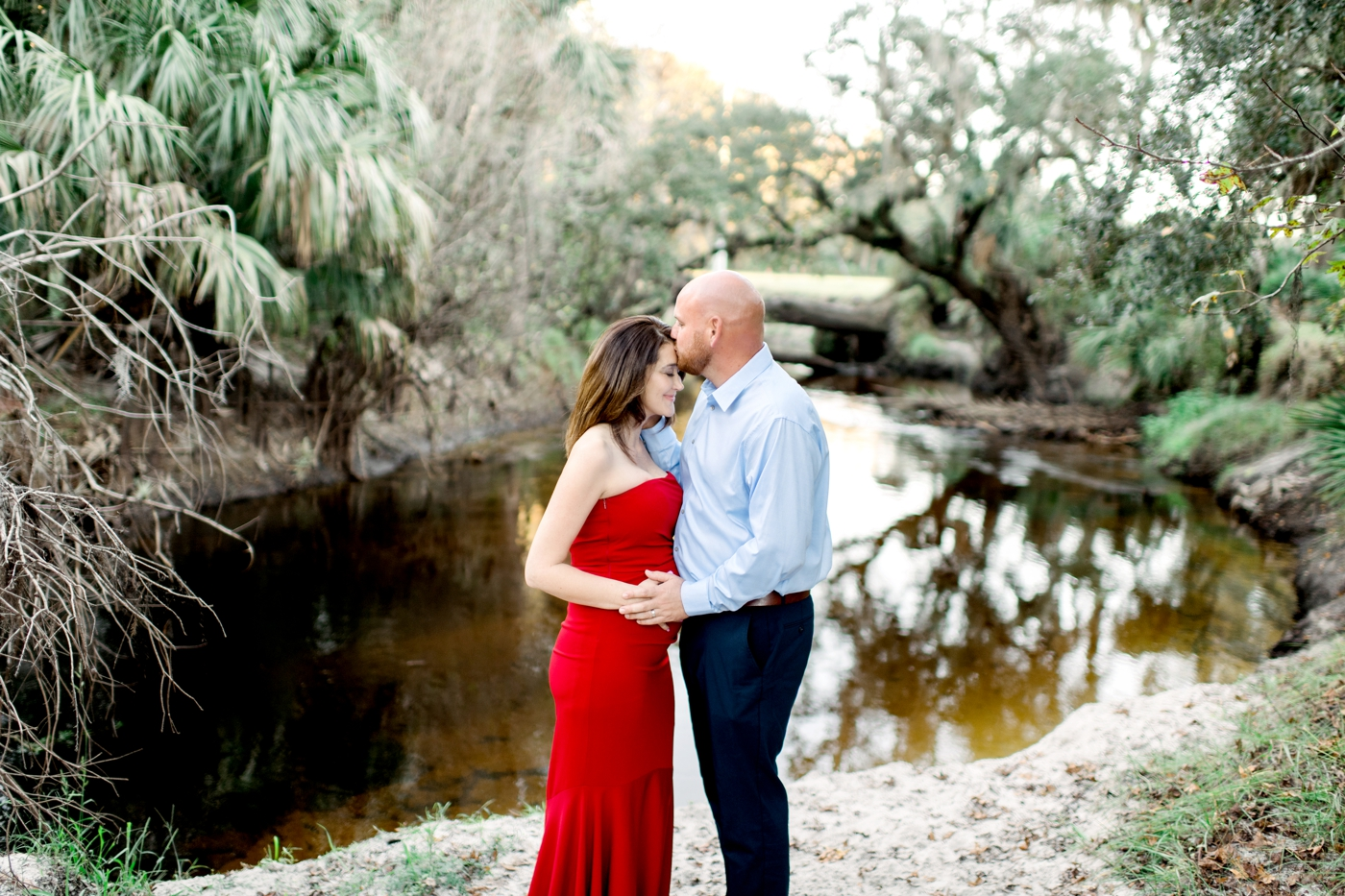 winter garden maternity photos