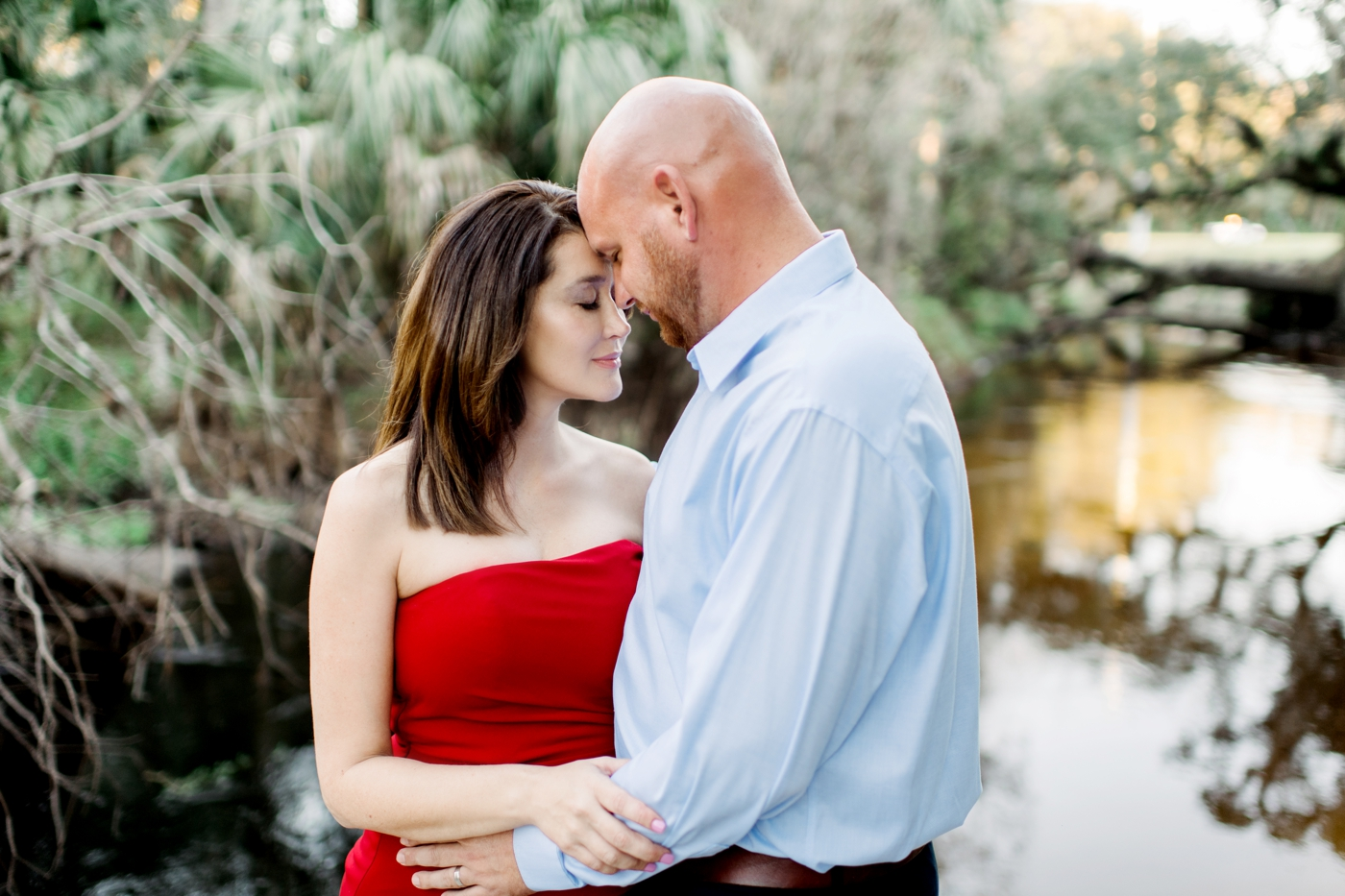 winter garden maternity photography