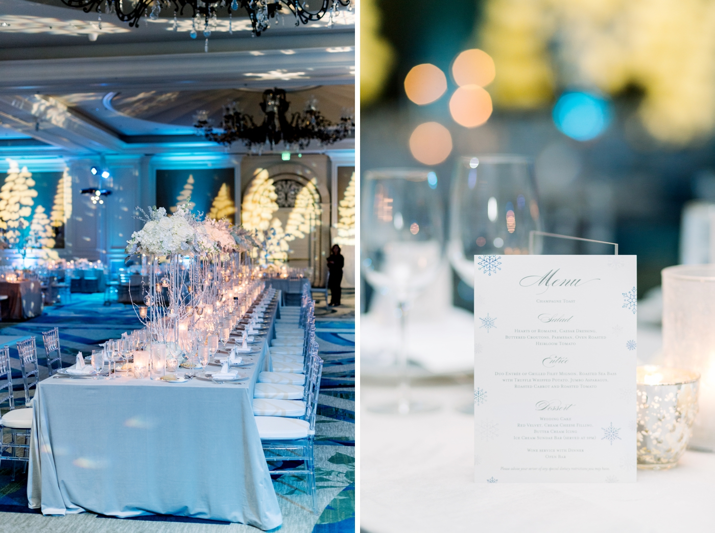 ritz carlton ballroom wedding reception