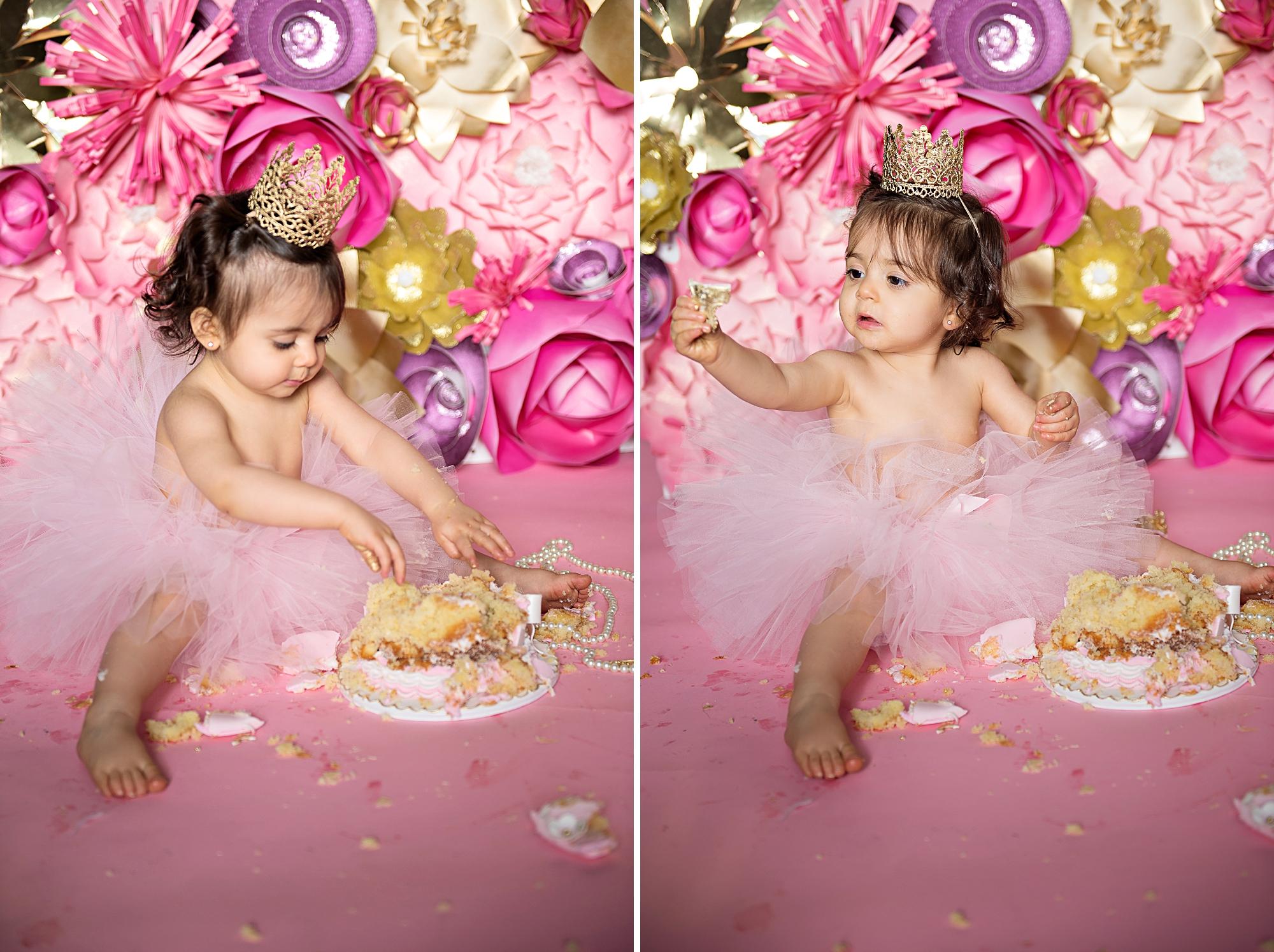girls cake smash