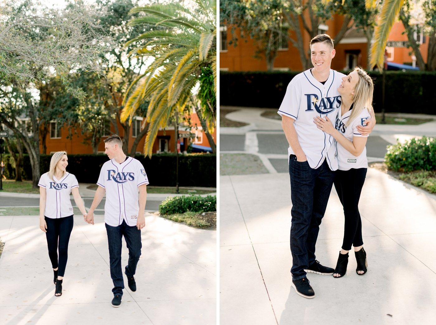 couples sporty engagement