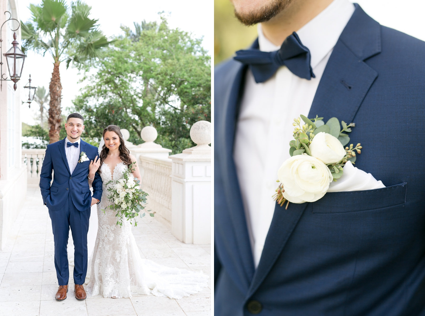navy tux wedding