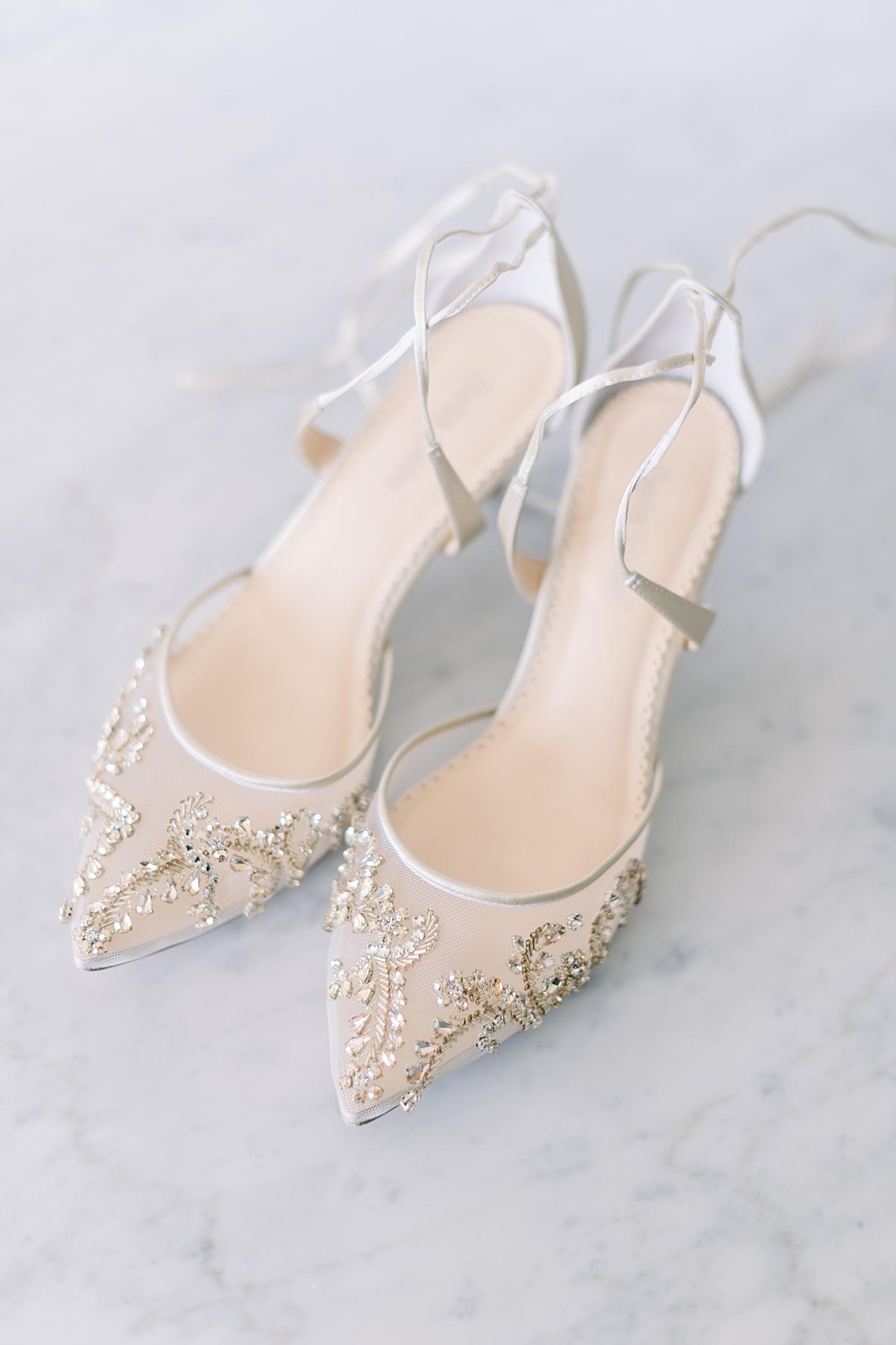 Bella Belle lace up wedding shoes