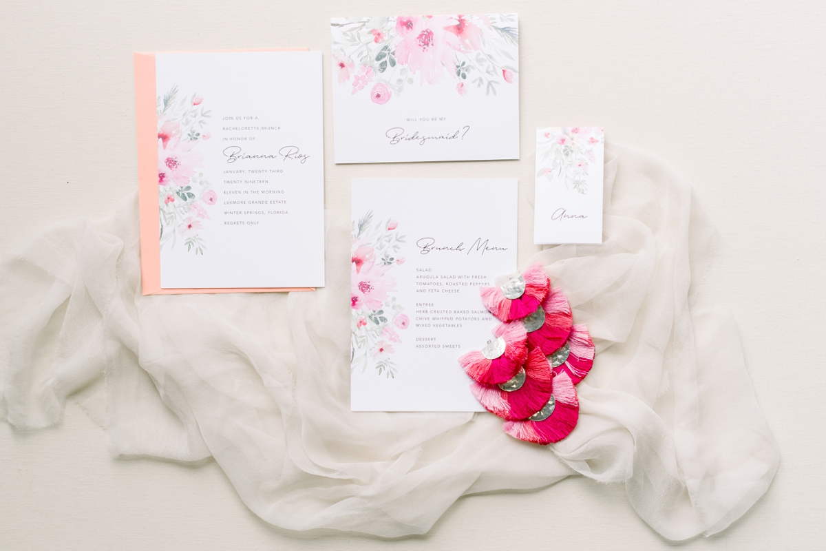 bridal shower stationary