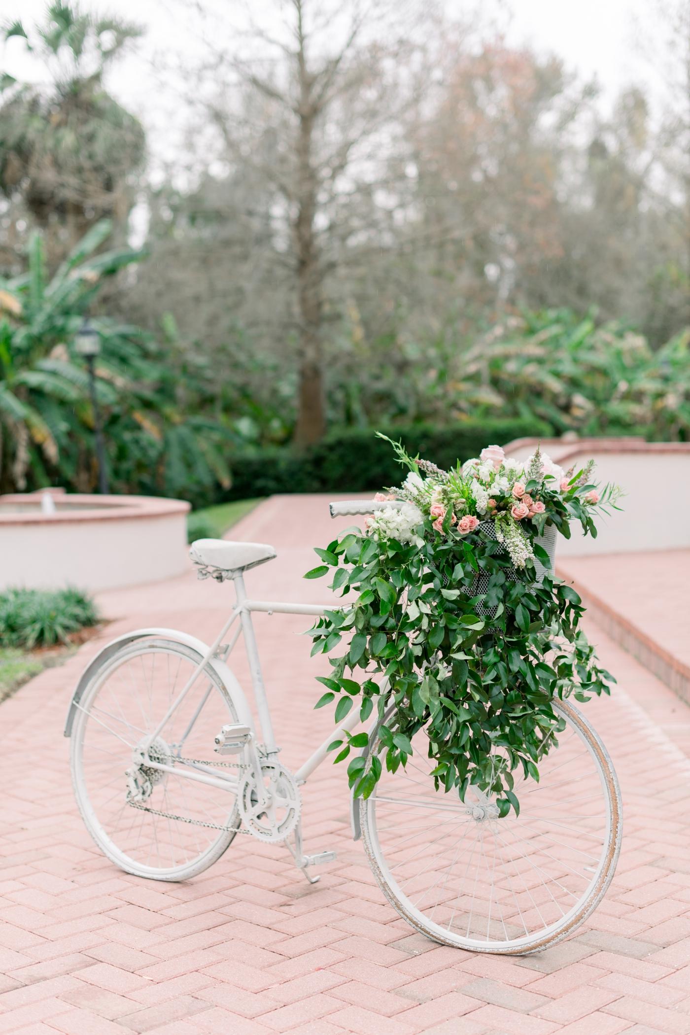flower basket bicycle
