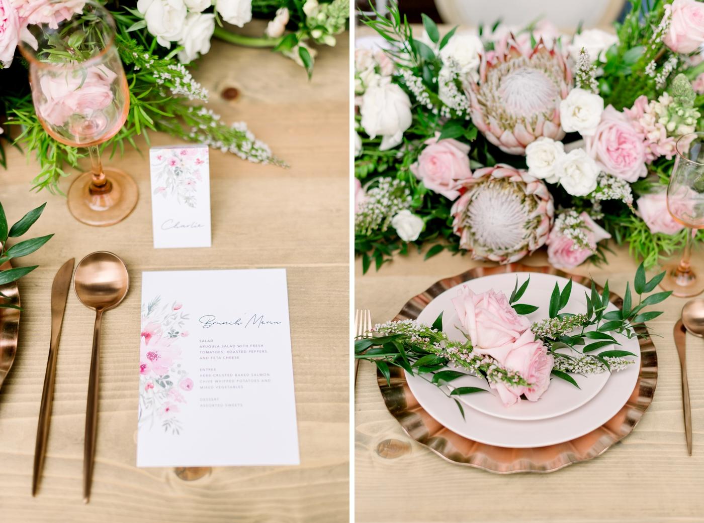 bridal brunch menu