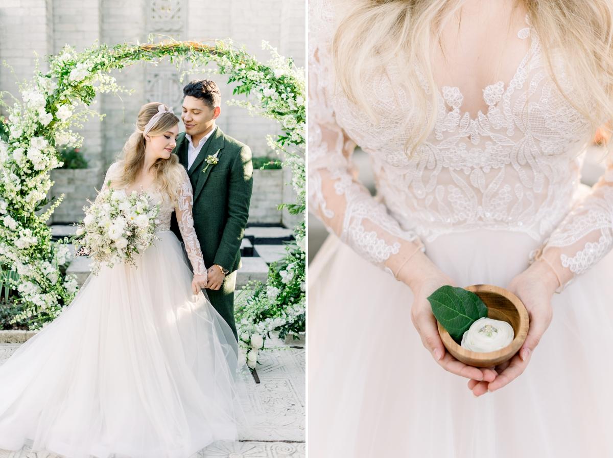 Calvet Couture dress with florals