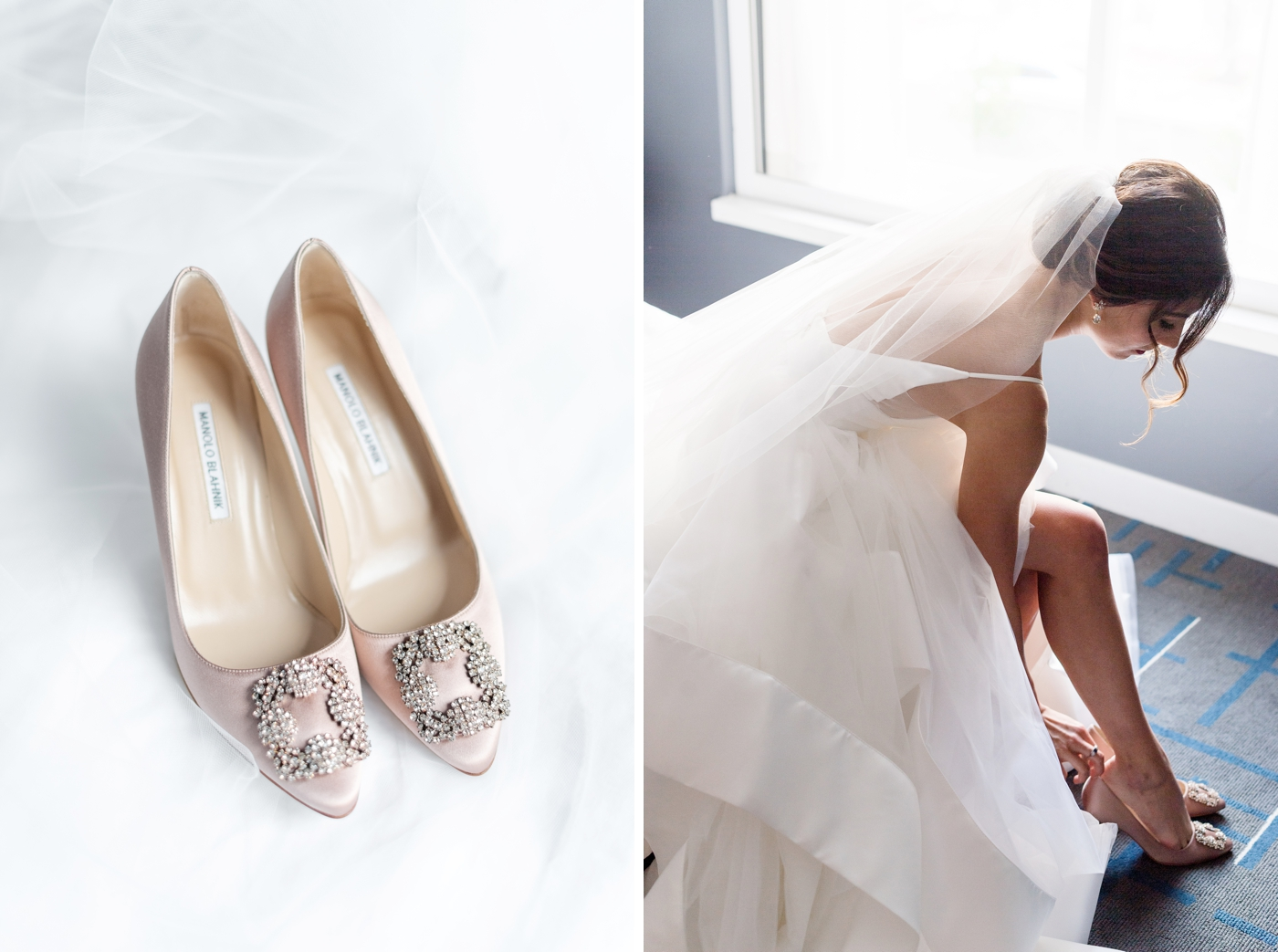 pink manolo wedding shoes