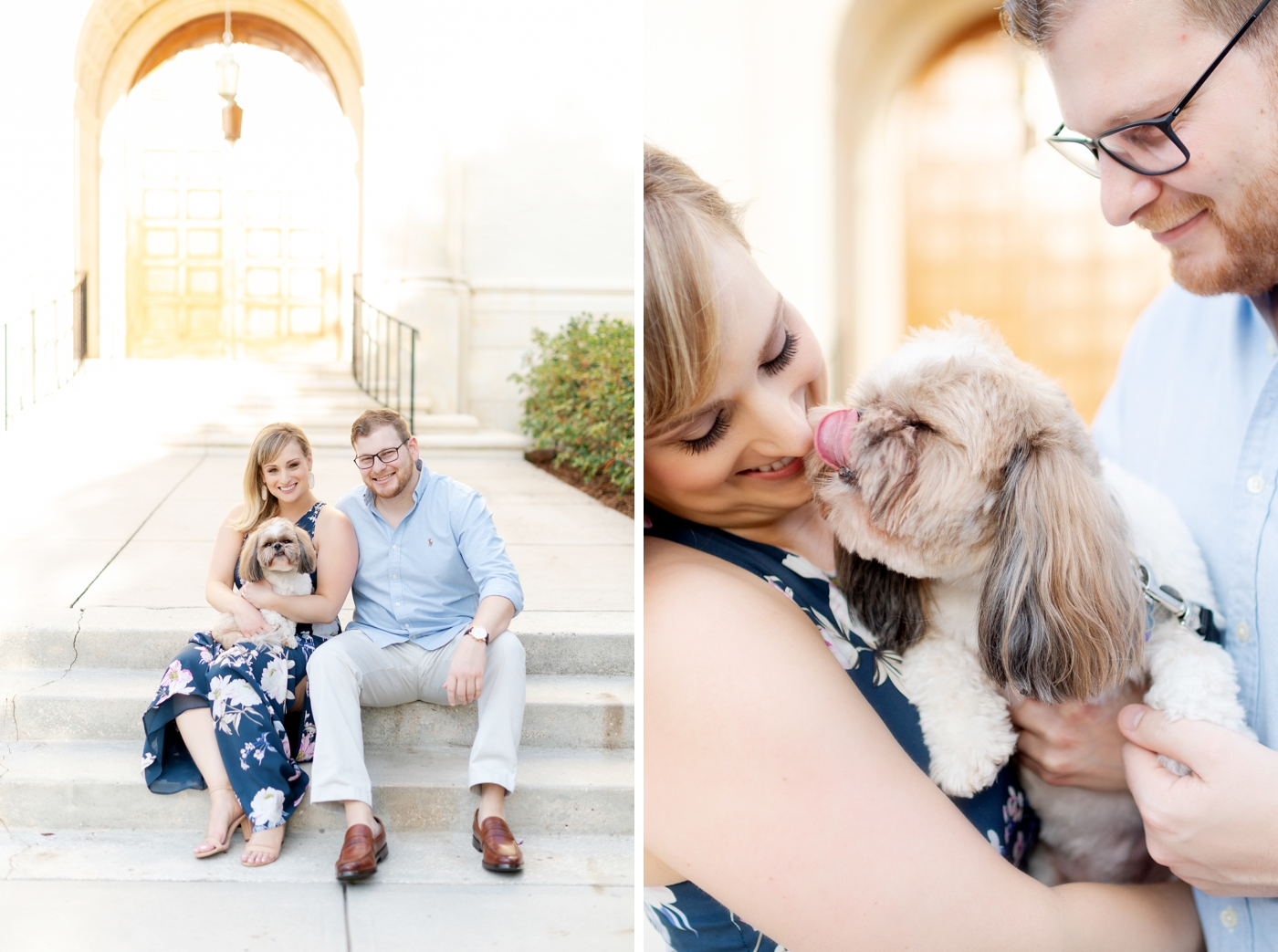 engagement session with puppy