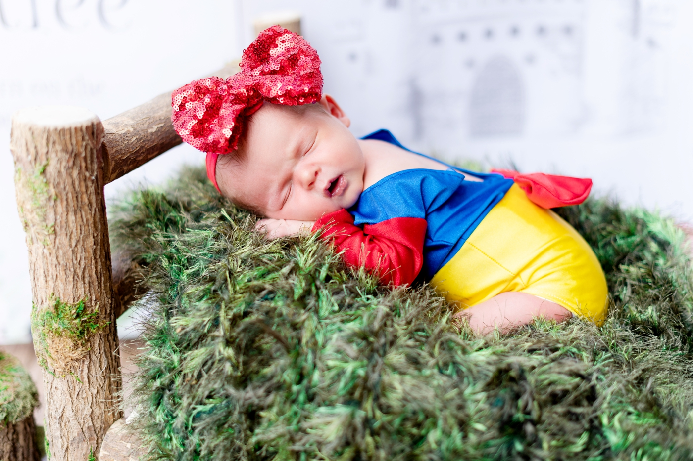 snow white themed newborn session