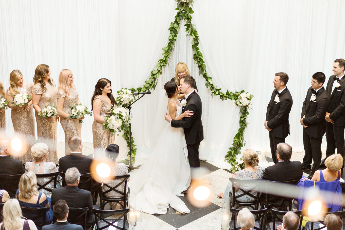 why do brides stand on the left