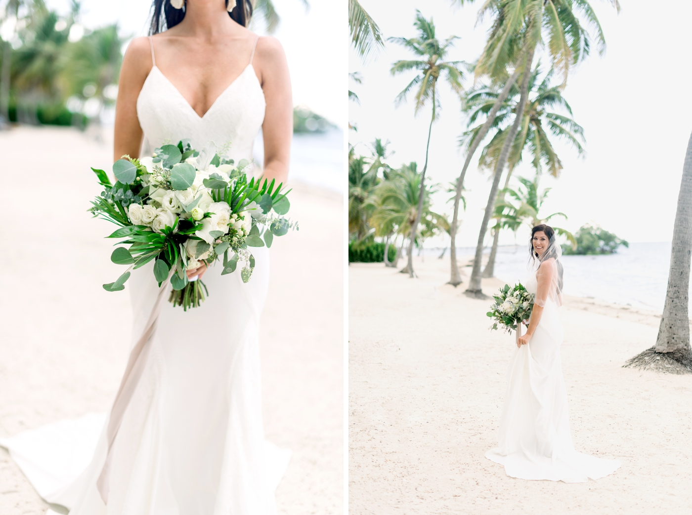 bridal portraits on beach