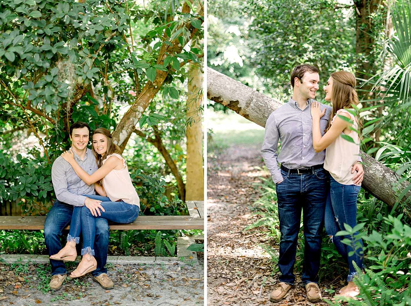 casual engagement session