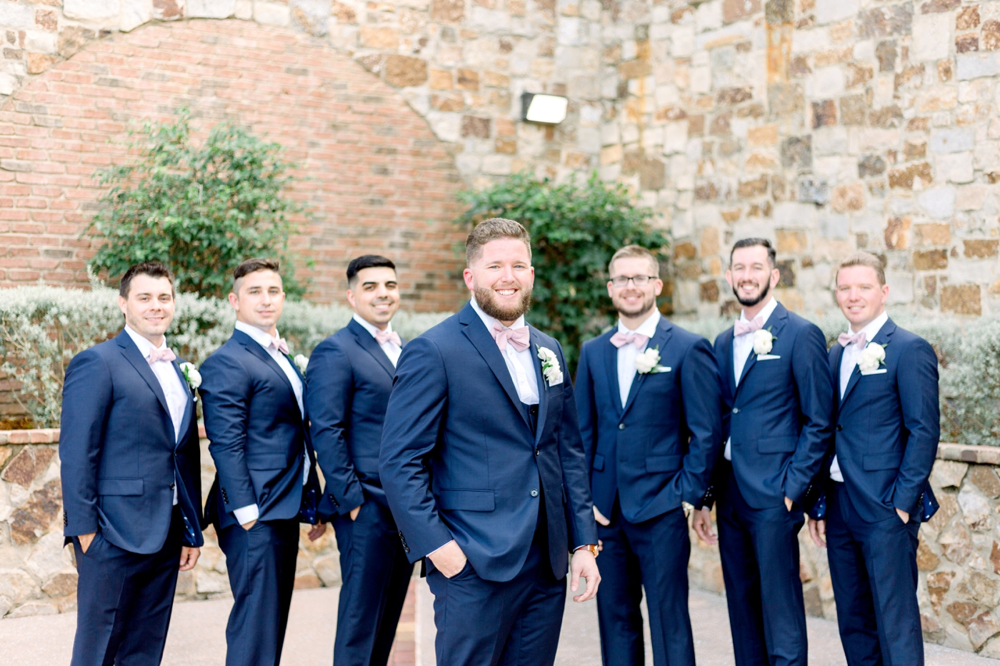 groomsmen in bowties
