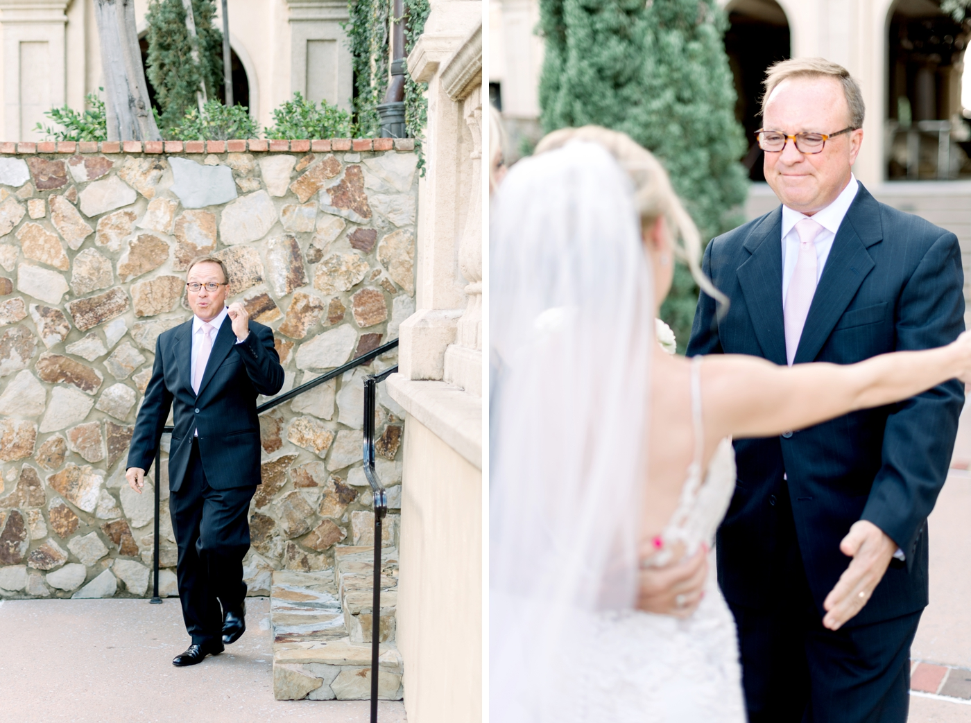 dad seeing bride first time