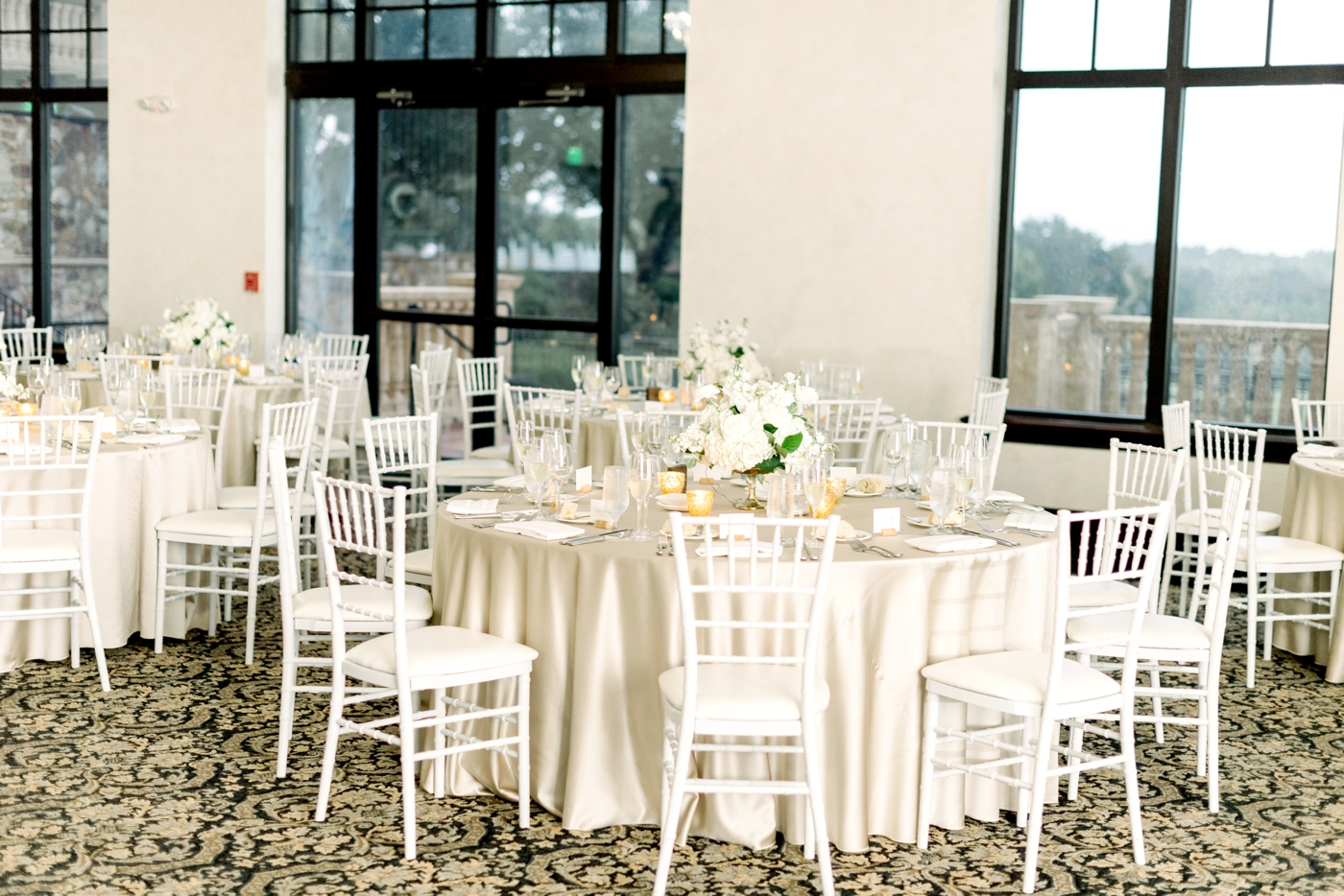 ballroom reception at bella collina